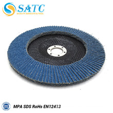 flexible blue zirconium oxide flap disc for stainless steel About